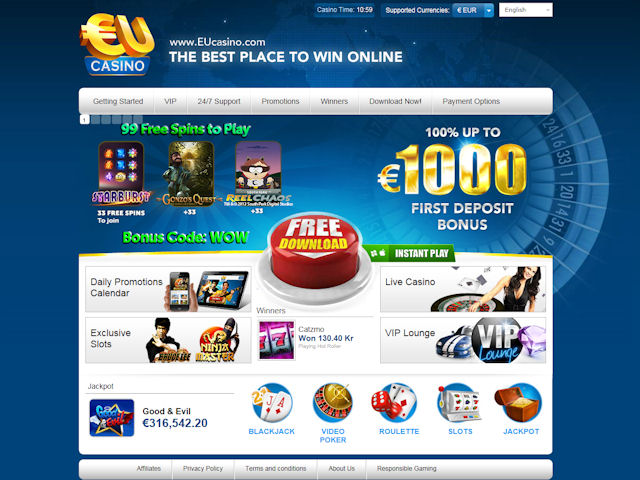 EUcasino screenshot 1